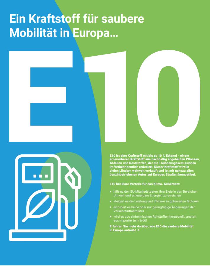 E10: Ein Kraftstoff für saubere Mobilität in Europa…