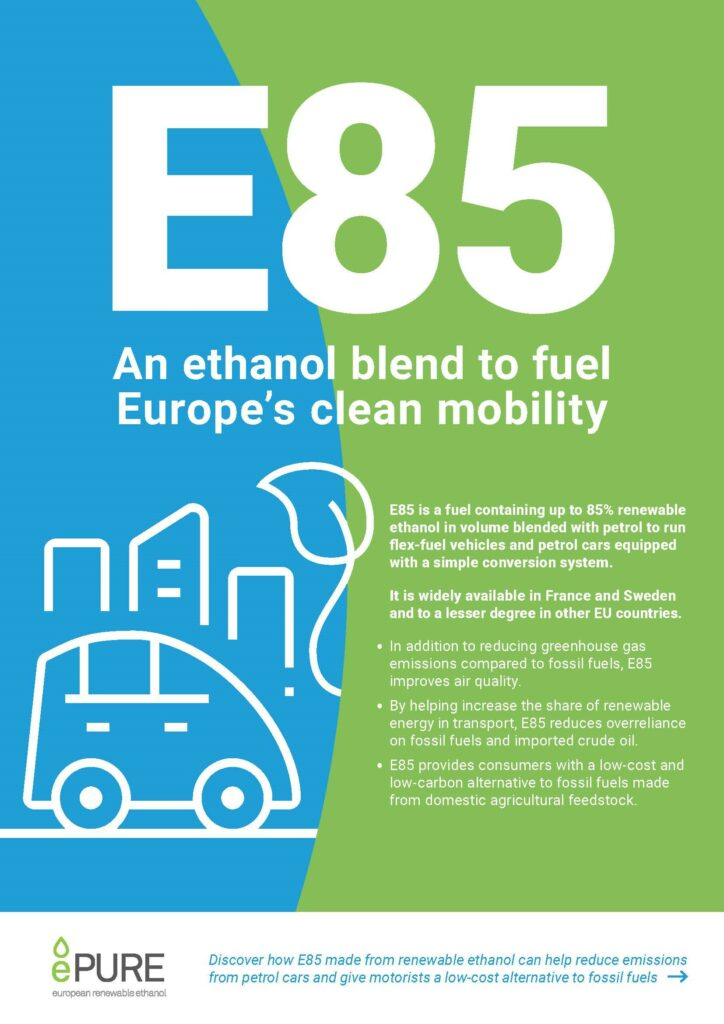 E85: An ethanol blend to fuel Europe's clean mobility