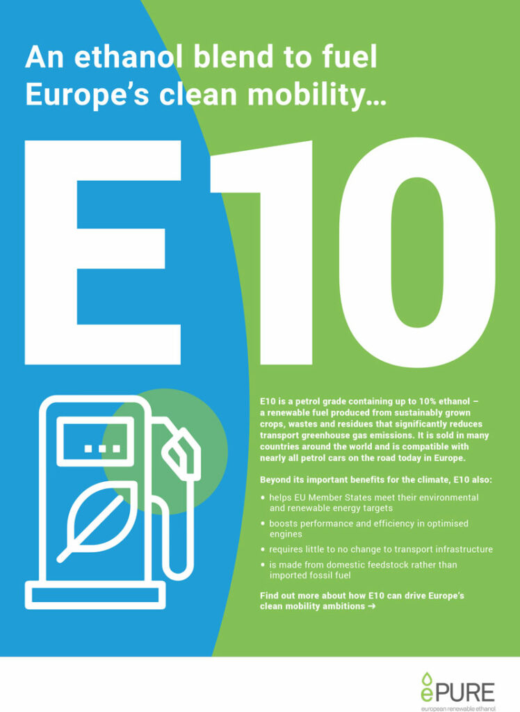 E10: An ethanol blend to fuel Europe's clean mobility
