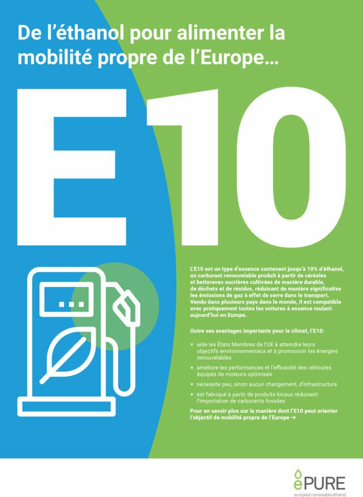 E10: De l'éthanol pour alimenter la mobilité propre de l'Europe…