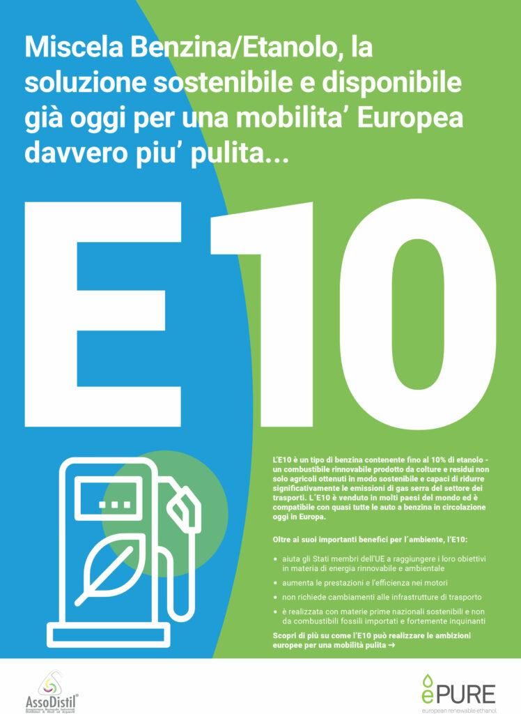 E10: Miscela Benzina/Etanolo, la soluzione sostenibile e disponibile già oggi per una mobilita' Europea davvero piu' pulita…